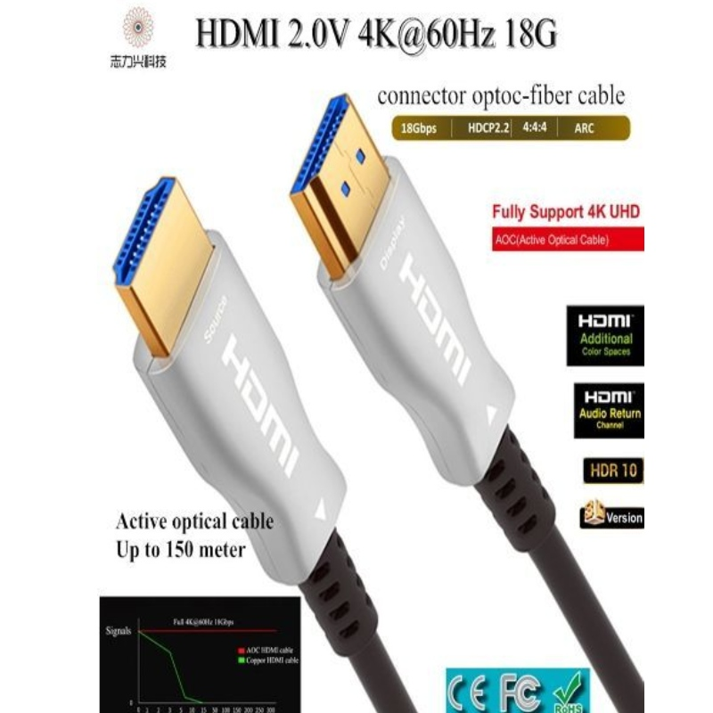 60M/197ft high speed HDMI cable 2.0v 18G 4K@60hz 3D ACR Audio and video cable,HDMI AOC